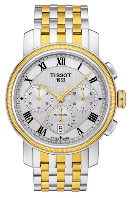 Tissot Bridgeport Automatic Chronograph Two-Tone Mens Watch T0974272203300