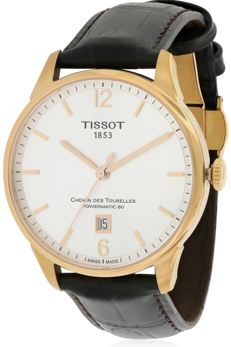 Tissot Chemin Des Tourelles Leather Automatic Mens Watch T0994073603700