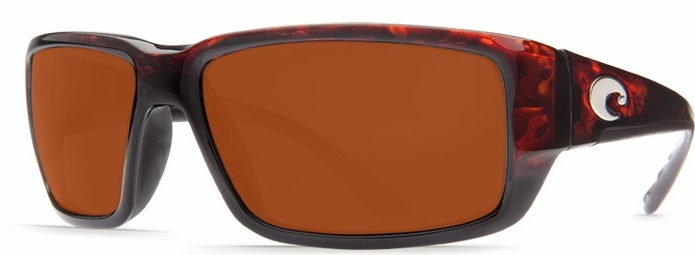 Costa Del Mar Fantail Polarized Tortoise Men Sunglasses TF-10-OCGLP