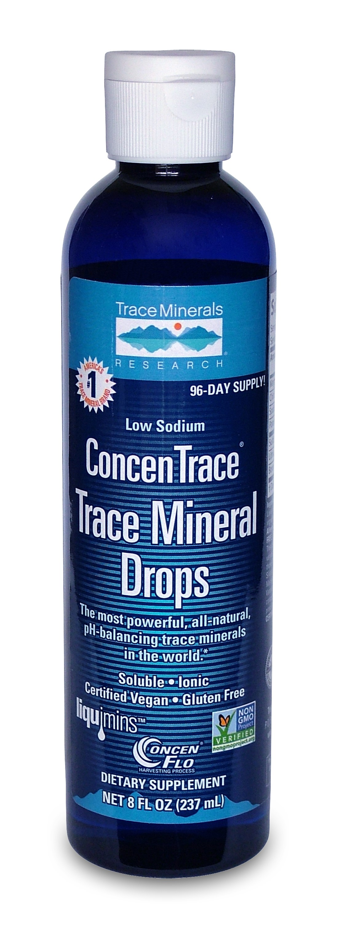 Trace Minerals ConcenTrace Trace Mineral Drops - 8 Oz - 2 Pack
