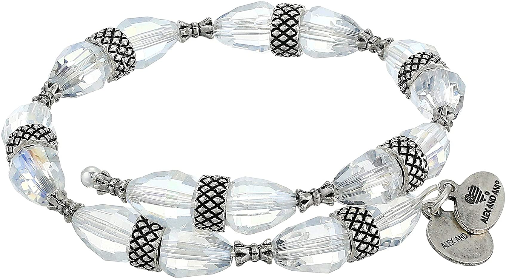 Alex and Ani Aero Divinity Chunky Beaded Wrap Bracelet in Rafaelian Silver Finish V19WBEAD19RS