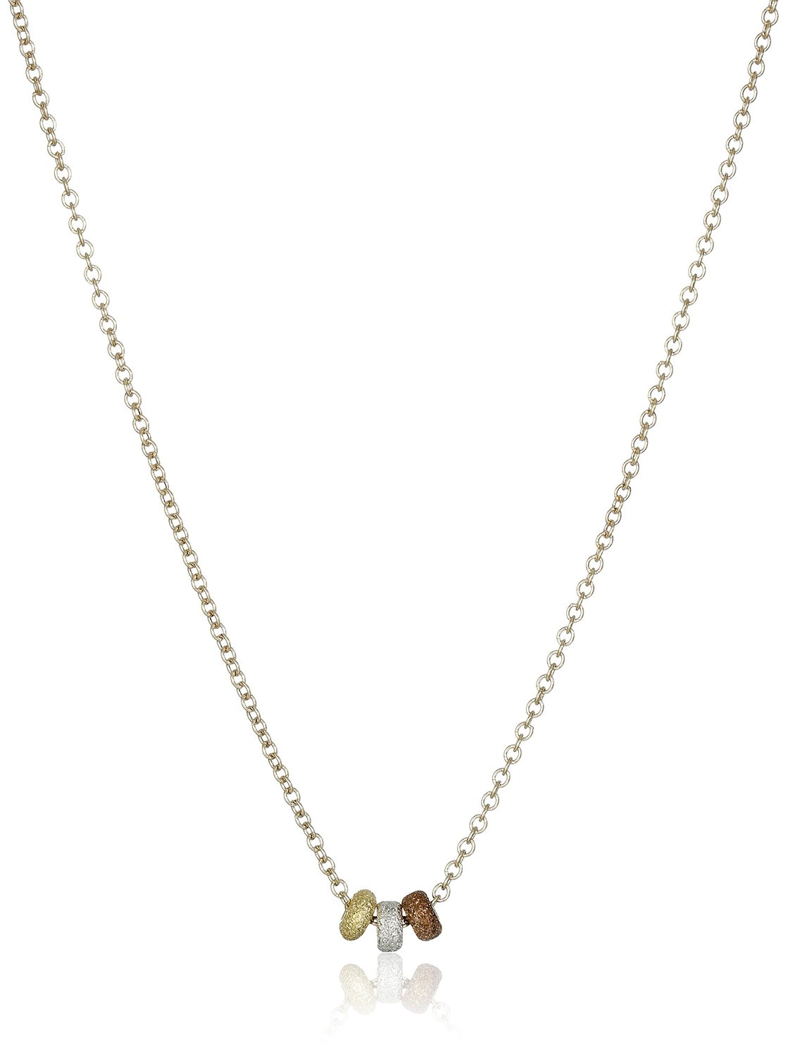 Dogeared 3 Wishes Mixed Metals Stardust Bead Necklace - VM2106