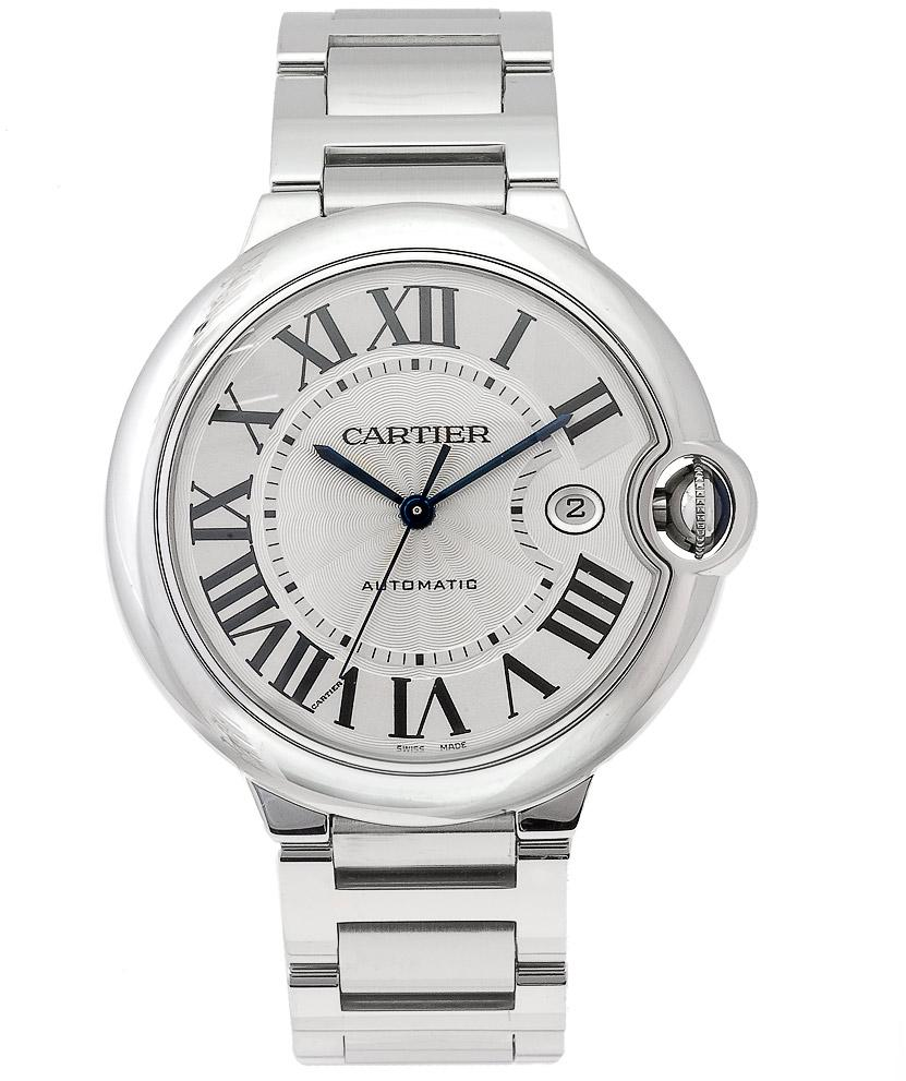 Cartier Mens Ballon Bleu Stainless Steel Automatic Watch W69012Z4