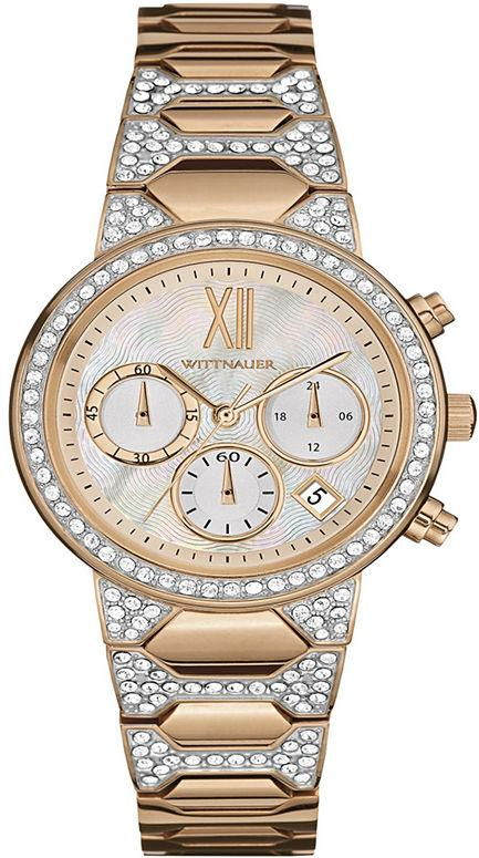 Wittnauer Crystal-Accent Rose Gold-Tone Chronograph Ladies Watch WN4068