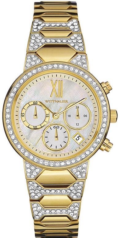 Wittnauer Crystal-Accent Gold-Tone Chronograph Ladies Watch WN4069