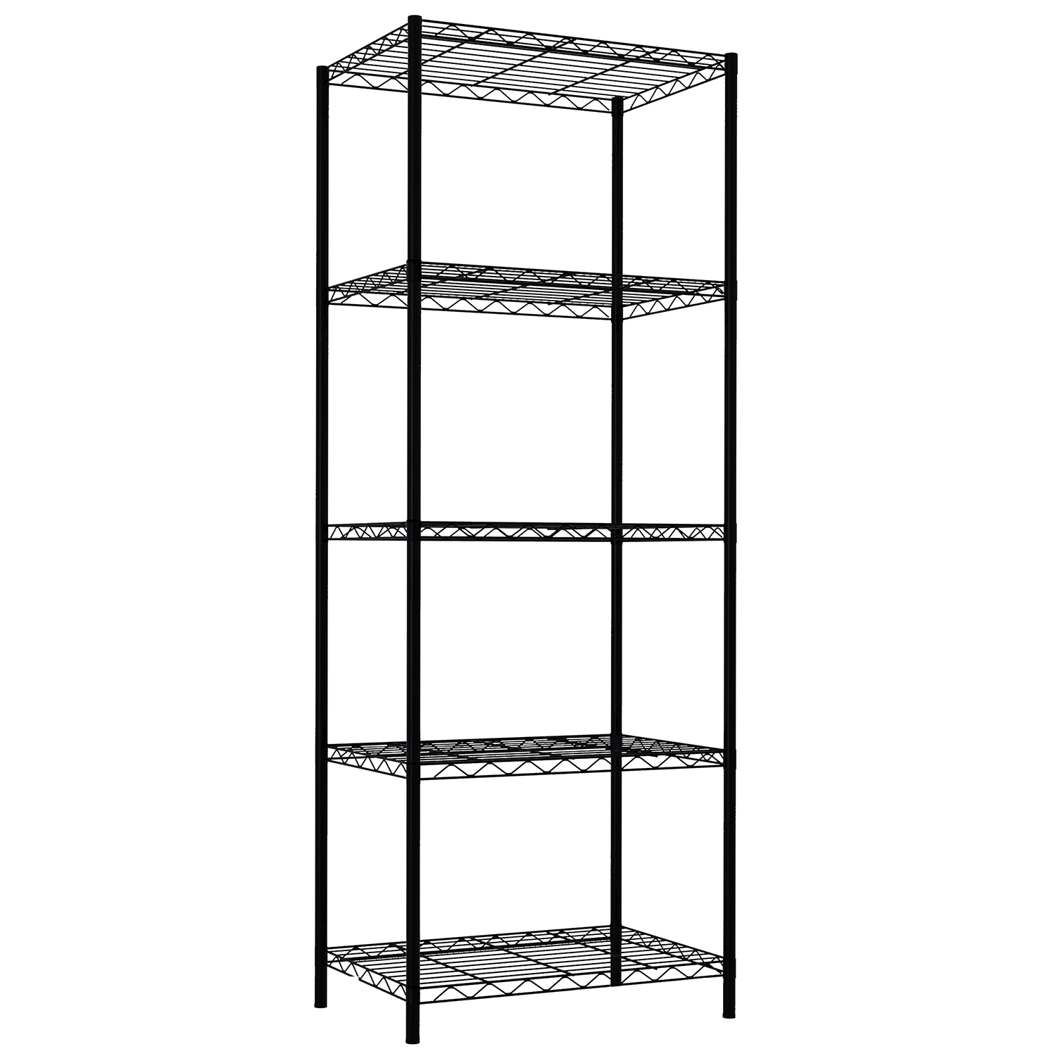 5 Tier Steel Wire Shelf - Black