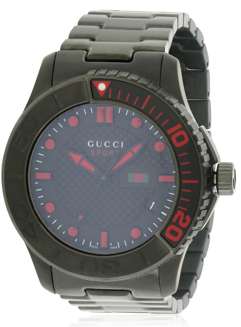 4861e7b5974 Gucci G-Timeless Black PVD Stainless Steel Mens Watch YA126230