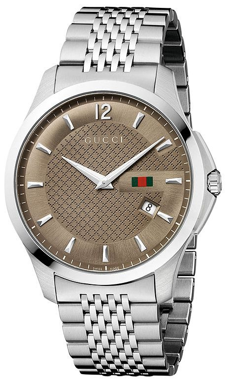 61b69584229 Gucci G-Timeless Stainless Steel Mens Watch YA126310