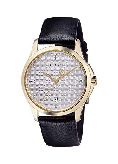 Gucci G-Timeless Leather Mens Watch YA1264027