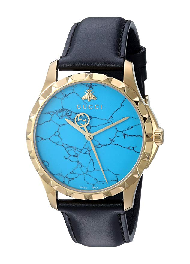 Gucci G-Timeless Turquoise Dial Mens Watch YA126462