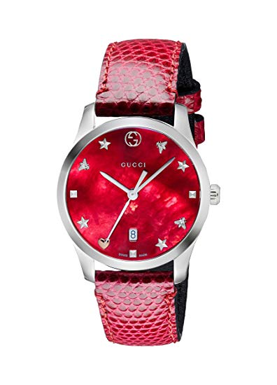 Gucci G-Timeless Leather Ladies Watch YA126584