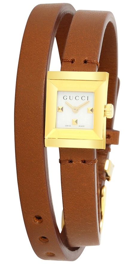 Gucci G-Frame Leather Ladies Watch YA128521
