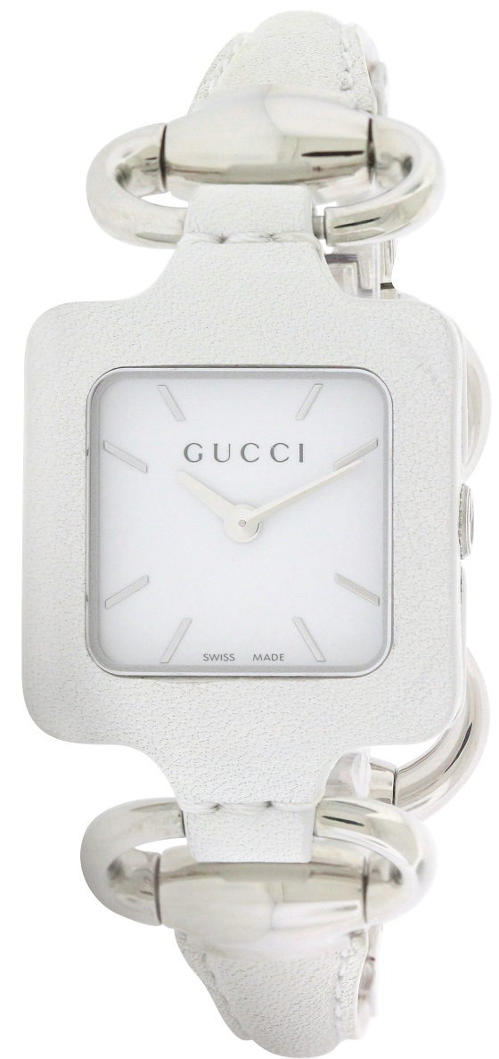Gucci 1921 Series White Leather Bangle Ladies Watch YA130404