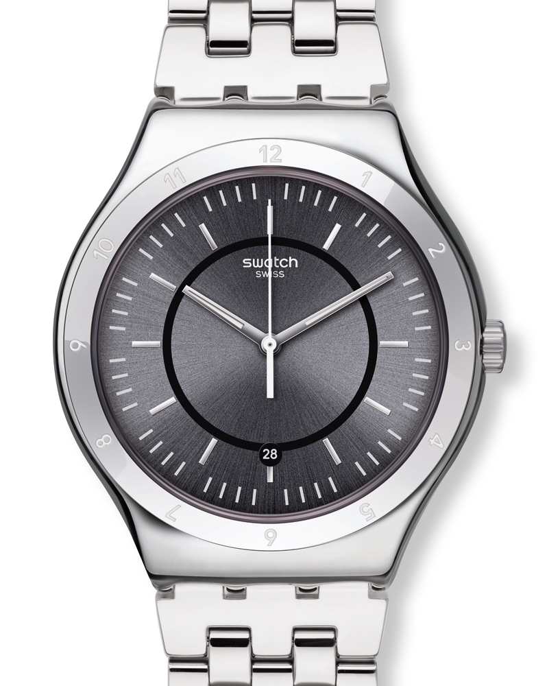Swatch Big Classic Stainless Steel Mens Watch YWS432G