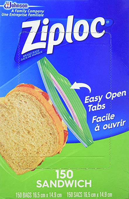 Super Value Ziploc Sandwich Bags (150 bags x 2 = 300 bags)